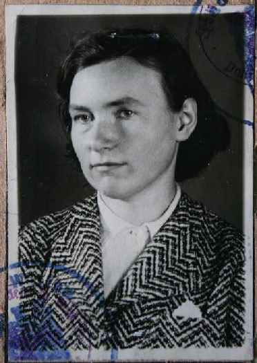 Anneliese Charlotte Merten (Passfoto, ca. 1930)