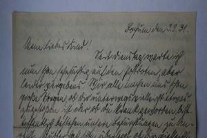 Brief von Walter an Anneliese, 03.09.1931