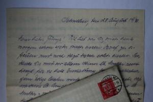 28.08.1931: Brief von Anneliese an Walter