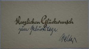 21.10.1931: Herzlichen Glückwunsch zum Geburtstage